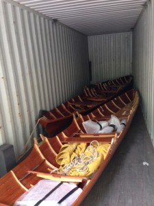 Boats on container